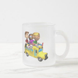 Kids School T Shirts and Kids Gifts Frosted Glass Coffee Mug