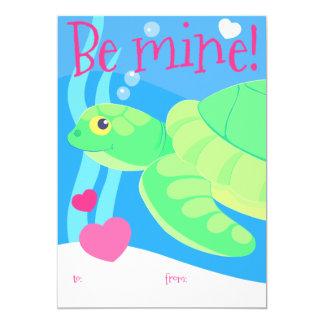 Kid's sea turtle Valentine card