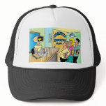 Kids see robot teacher in computer class trucker hat
