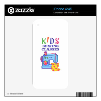 KIDS SEWING CLASSES DECAL FOR THE iPhone 4