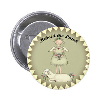 Kids Sheep T Shirts and Gifts 2 Inch Round Button