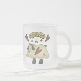 Kids Sheep T Shirts and Gifts Frosted Glass Coffee Mug