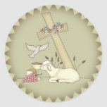 Kids Sheep T Shirts and Gifts Round Stickers
