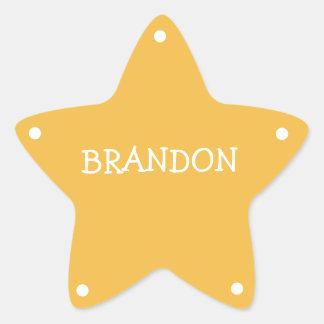 Kids Sheriff Badge Name Tag Star Sticker