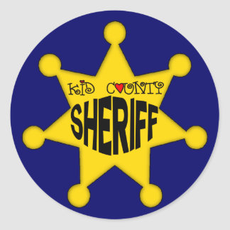 Kids Sheriff T Shirts and Kids Gifts Classic Round Sticker