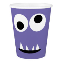 Kids Silly Monster Face Monsters Party Purple Cute Paper Cup