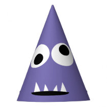 Kids Silly Monster Face Monsters Party Purple Cute Party Hat