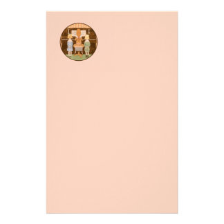 KIDS SINGING VINTAGE PIANO MUSIC LESSON STATIONARY STATIONERY