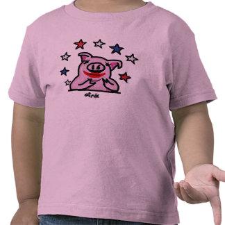 Kids Size Lipstick on a Pig Tshirts