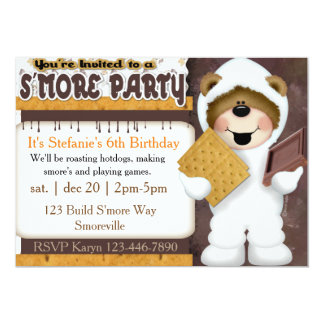 Kids S'more Party Invitation