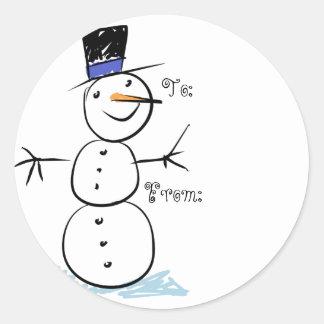 Kids Snowman Christmas Gift Tags