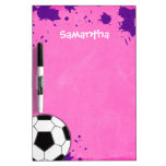 Kids Soccer Ball Pink Personalized Dry-Erase Board