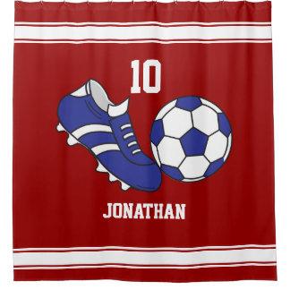 Kids Soccer Shower Curtain