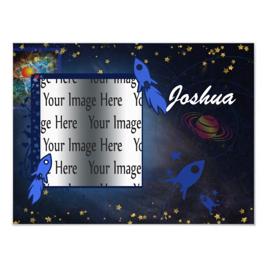 kids space photo frame template