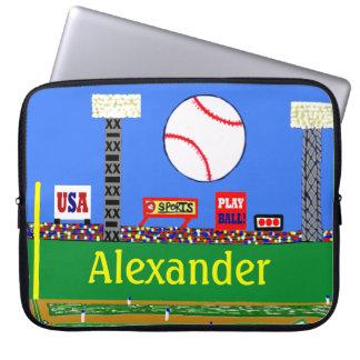 Kids Sport Baseball Laptop Cover Athletic Gift Laptop Computer Sleeve