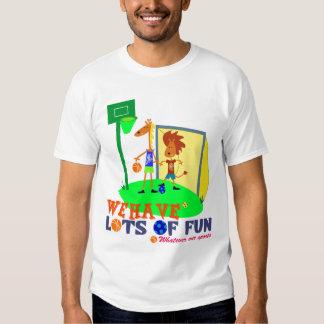Kids Sport Tees: We have lots of fun; T Shirt