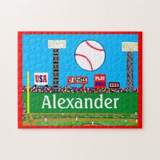 Kids Sports Baseball Puzzle Personalized Gift