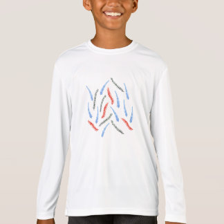 Kids' sports long sleeve T-shirt with branches