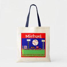 Kids Sports Personalized Baseball Art Gym Bag Gift at Zazzle