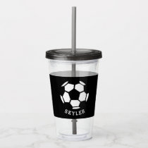 Kids Sports Soccer Athletic Personalized Boys Acrylic Tumbler