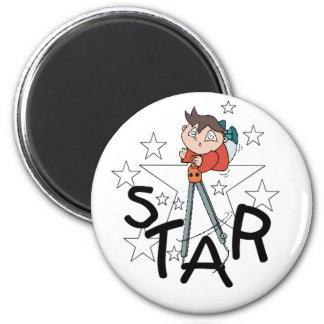 Kids Star 2 Inch Round Magnet