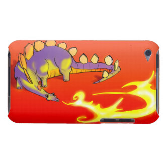 Kids Stegosaurus Breathing Fire by Alberto Rios iPod Touch Case