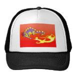 Kids Stegosaurus Breathing Fire by Alberto Rios Mesh Hats