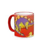 Kids Stegosaurus Breathing Fire by Alberto Rios Coffee Mug