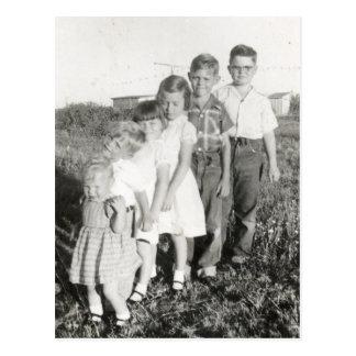 kids stepladder postcard