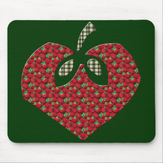 Kids Strawberry Heart T Shirts and Kids Gifts Mouse Pad