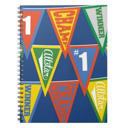 Kids String of Pennants Notebook
