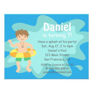 Kids Summer Splash Birthday Pool Party Invitation Invitation