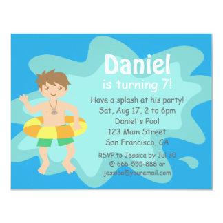 Kids Summer Splash Birthday Pool Party Invitation
