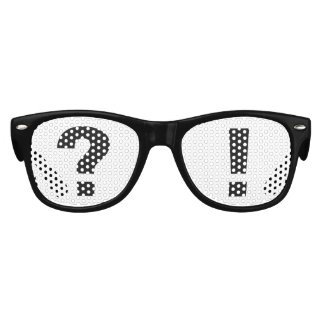 Kid's sunglasses fun question mark exclamation art