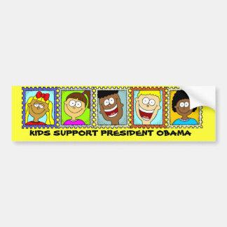 KIDS SUPPORT PRESIDENT OBAMA BUMPER STICKERS