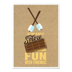 Kids Sweet Birthday Bonfire Smores Invitations 5