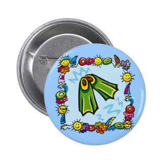 Kids Swimming T Shirts and Kids Swimming Gifts Button