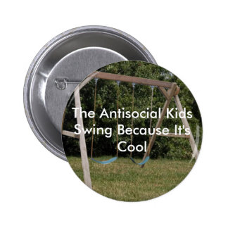 Kids Swing Pinback Button