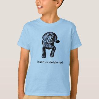 Kid's t-shirt black lab puppy