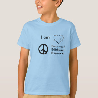 kids t-shirt heart peace, I am, EncouragedEnli...