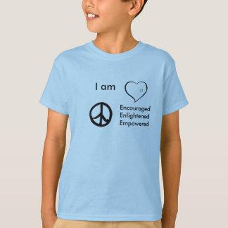 kids t-shirt heart peace, I am, EncouragedEnli...