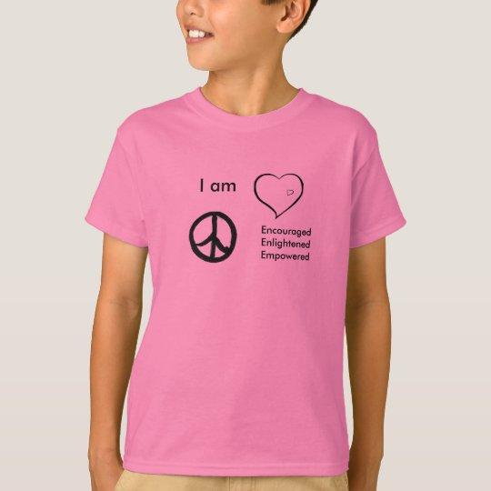 kids t-shirt peace, love