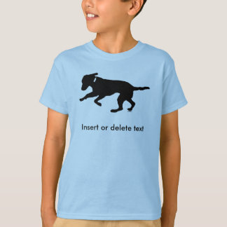 Kid's t-shirt playful black lab