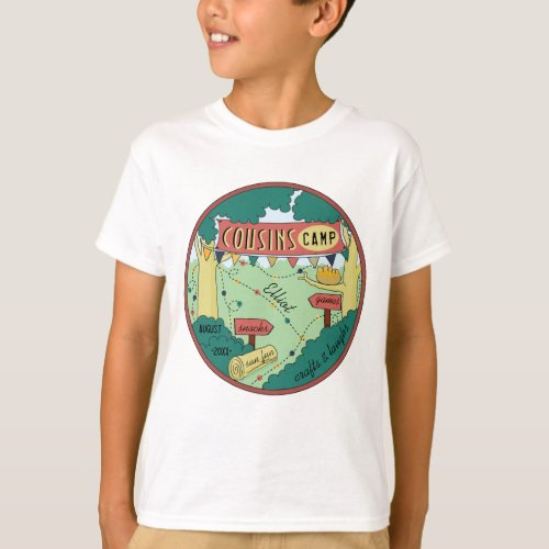 Kids T_Shirt Summer Camp Personalize