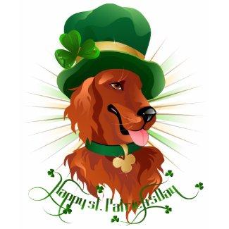 Kids T-shirt with Irish Setter character