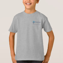 Kids' T-shirt with logo on back - Grey