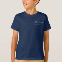 Kids' T-shirt with logo on back - Navy