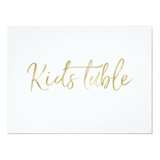 """Kids Table"" Wedding Sign 