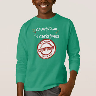 Kids' Tagless Long Sleeve Shirt Countdown to Chris