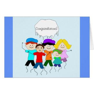 Kids Teacher Graduation Congratulations Card
